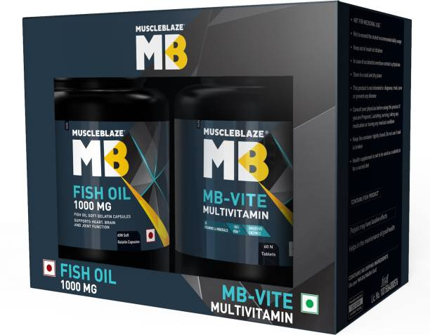 MUSCLEBLAZE MB- Vite & Fish Oil 1000mg Combo Pack