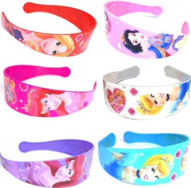AN TRENDS Disney Princess Hair Band Combo Of Rainbow Colors Big Durable and Wide For Party wear, Daily use, Hair Band, Head Band, for Women/Girls (Pack of 6) Hair Band (Multicolor), Blue, Purple, Red, White, Pink, Dark Pink Hair Band (Multicolor) Hair Band