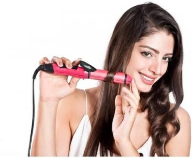 AR Collection Hair Styler- Hair Curler & Straightener Nova 2009 Hair Straightener (Red, Black) Hair Curler