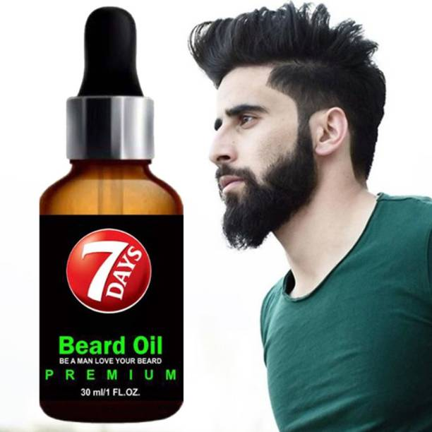 7 Days PREMIUM BEARD OIL- Enriched with Rose & Sandalwood oil For Fast Beard Growth Hair Oil