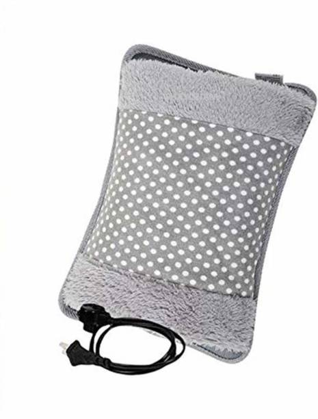 JimXen Soft Velvet Electric Hot Water Bottle Bag, heating gel pad for pain relief Electric 800 ml Hot Water Bag