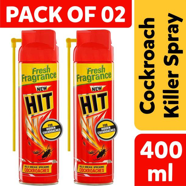 Hit Spray Crawling Insect Killer (400ml, Red) (Pack Of 02)