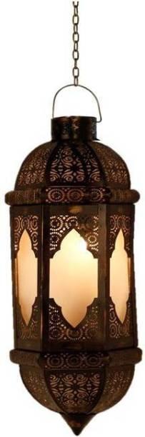 Inspiration World Brass Antique Hanging Lamp Brown Iron Hanging Lantern