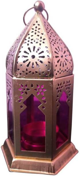 Heaven Decor Decorative Hanging Morrocan Lantern/Table Top Pink Iron Table Lantern