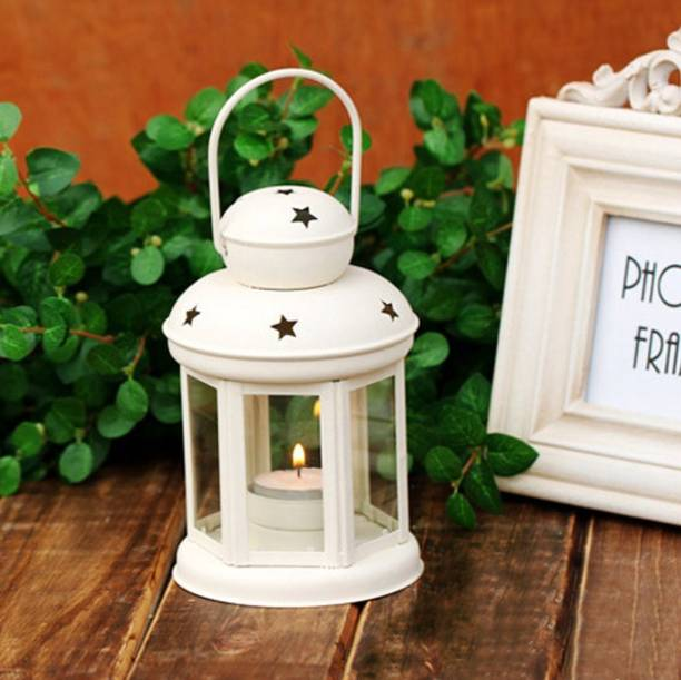 Heaven Decor Decorative Hanging Tealight Candle Holder Indoor outdoor Home Decoration for Gifts White Iron Table Lantern
