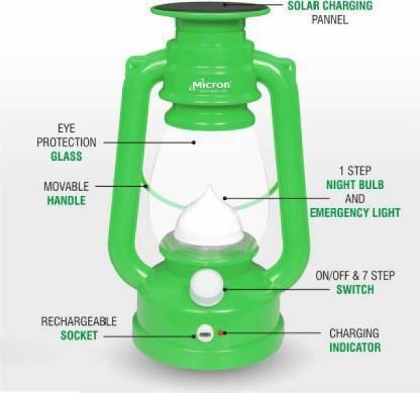 Luck n tuk Led lalten sollar Green Plastic Hanging Lantern