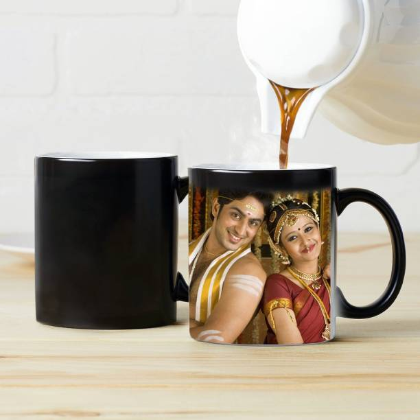 WINNI CELEBRATE RELATIONS Magic for Gifts Ceramic Personalized/Customized Digital Printing Patch Coffee/Cup with Photo and Quotes/Text Birthday/Love/Anniversary/Friend/Family/Sister/Brother (3d Black Magic) Ceramic Coffee Mug