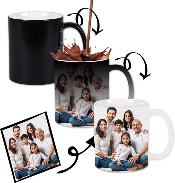 Friendskart Personalized Photo and Text Ceramic / Cup For Birthday , Anniversary Gift Magic Ceramic Coffee Mug