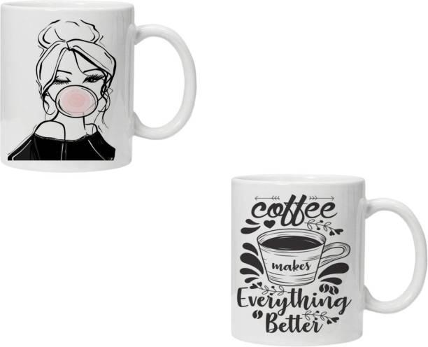 FASHION EDITION Printed 11oz Coffee Set for Friends, COMBO-WHITE-MUG-1_35 Ceramic Coffee Mug