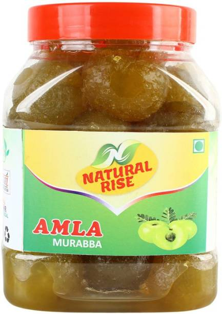 Natural Rise Premium Quality Handmade Homemade Pure Organic Amla Murabba (950 grams) Amla Murabba