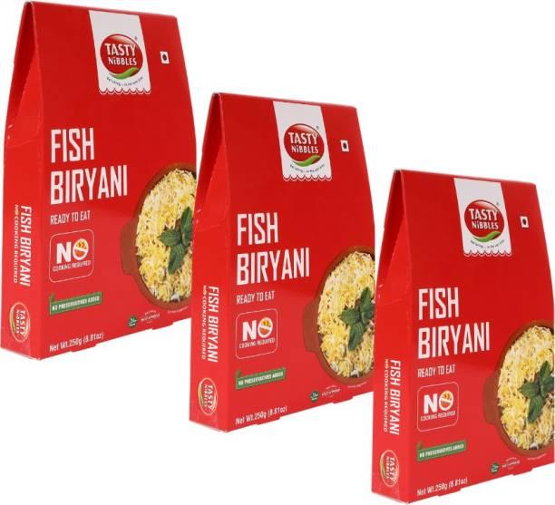 Tasty Nibbles Ready to Eat Fish Biryani 250g x3 750 g
