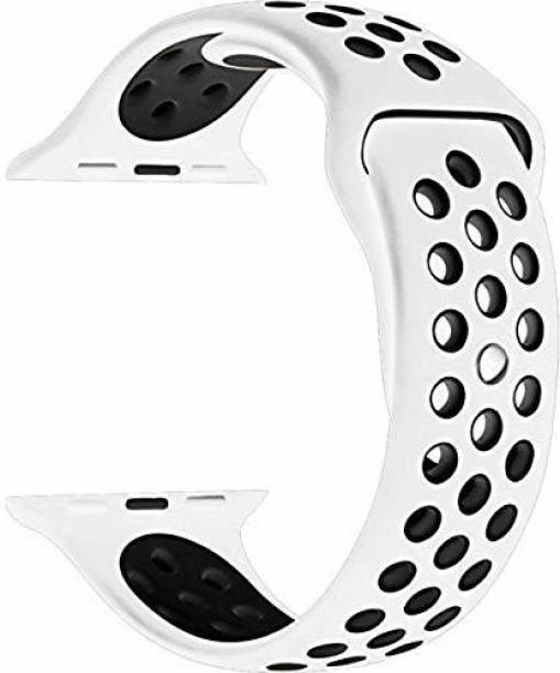 RFV1 42mm/44mm Soft Silicone Sport Breathable Strap, Watch Band, Straps Compatible with iWatch Series 1/2/3/4/5/6/SE Smart Watch Strap