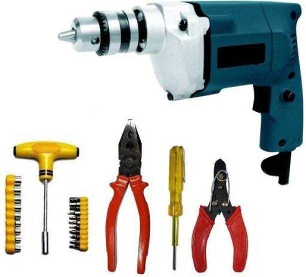 Tulsway Electric Drill machine with High Quality Accessories Combo Power & Hand Tool Kit Power & Hand Tool Kit