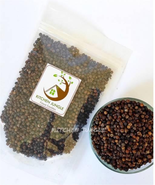 Kitchen Jungle Black Pepper Whole Organic Pepper Corn (Kali Mirch Sabut) Grade - Big Size