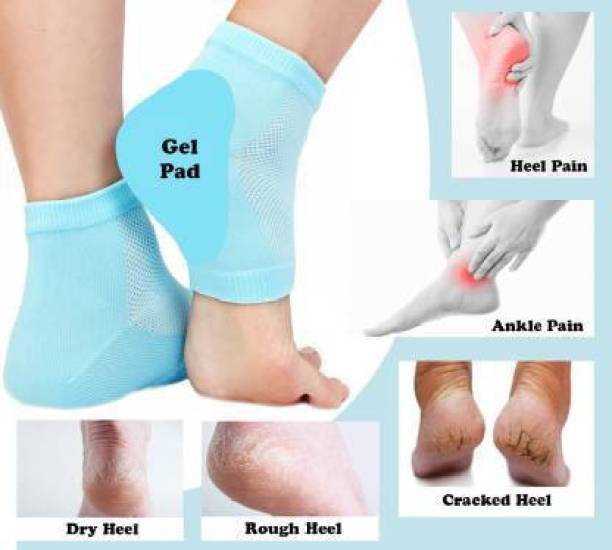 Classic deal GJSOC=5262 Silicon Gel Heel Pad Socks Heel Cushion Heel Pain Relief