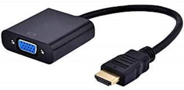 TECHON  TV-out Cable Hdmi To Vga Converter Adapter Cable - The Simplest Converter (Black) HDMI Adapter (Black)