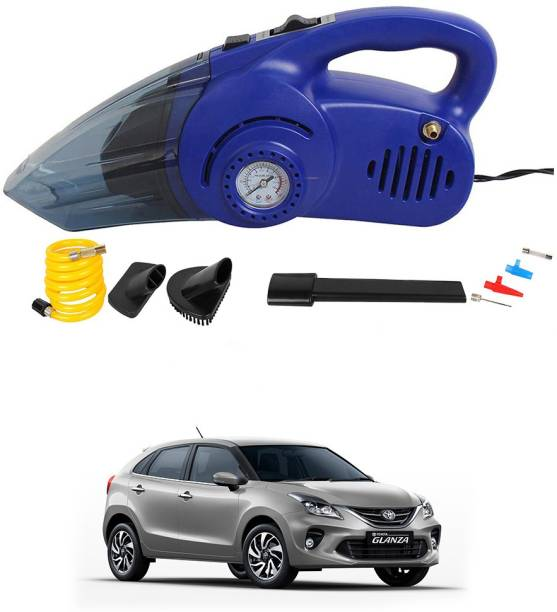 Oshotto 100W 2 in 1 Vacuum Cleaner cum Tyre Inflator for Toyota Glanza Car Vacuum Cleaner