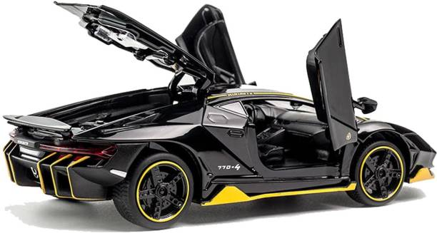 US1984 Lamborghini Centenario Die Cast Metal Fast and Furious Luxury Pull Back Car Toy with Light and Sound
