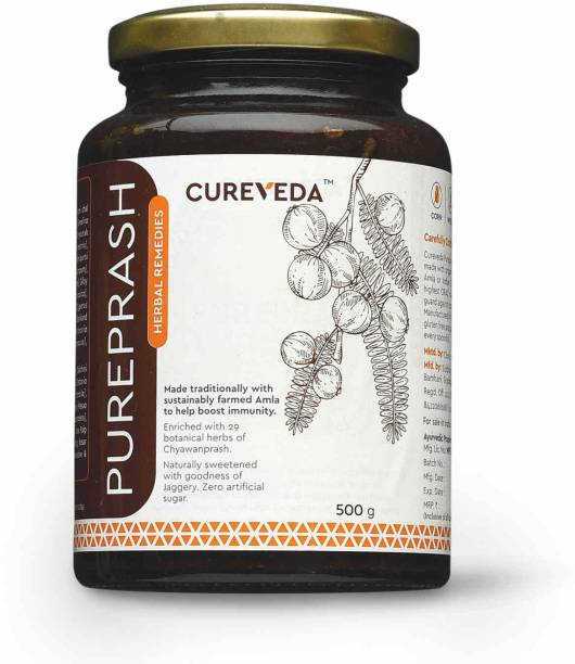 Cureveda Pureprash - For Immunity Support for all age groups- Jaggery based, sugar free Chyawanprash - pack of 1