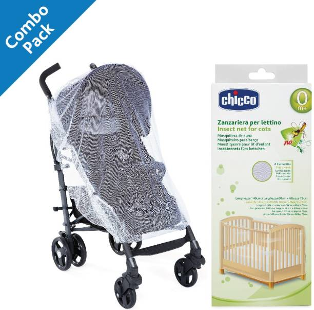 chicco Mosquito Net for Cot and for Stroller ( Pack of 2 )