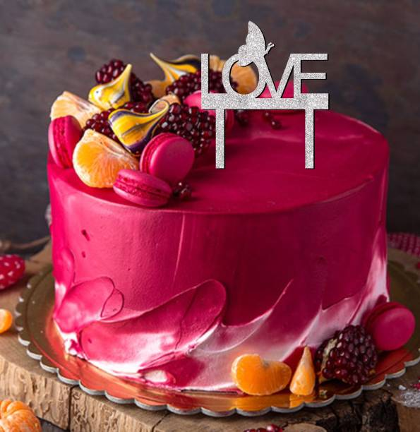 Creatick Studio Love Glitter Cake Topper to Celebrate a Special Day With Special One _SSCT91 Cake Topper
