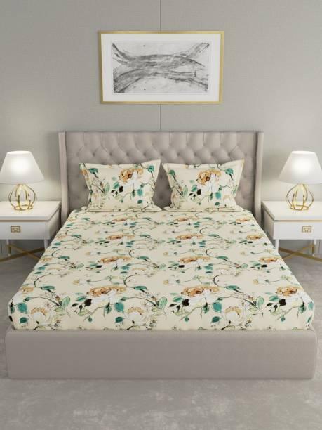 Raymond Home 0 TC Microfiber Double Floral Bedsheet