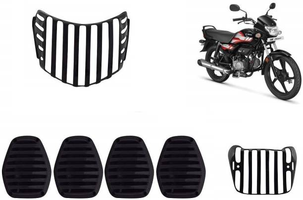 Delhismart Deluxe Bike , Headlight , Backlight , Indicators Black Protective Covers Bike Headlight Grill