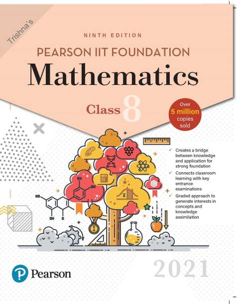 Pearson IIT Foundation Mathematics   Class 8  2021 Edition  By Pearson