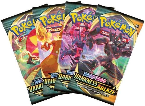AncientKart Pokemon cards Sword and Shield Darkness Ablaze booster packs (set of 4)