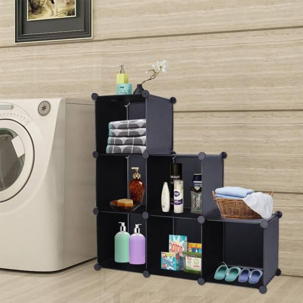 Sasimo 6-Door 6-Shelf Cube Organizer PVC Collapsible Wardrobe