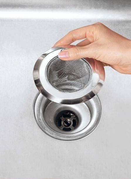 SHOPIP Kitchen Sink, Basin, Bathroom Sink Stainless Steel Push Down Strainer