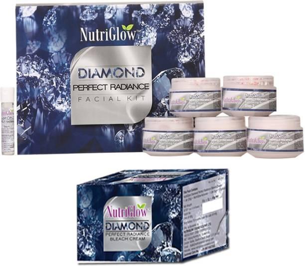 NutriGlow Set of 1 Diamond radiance facial kit + 1 Diamond radiance bleach creme