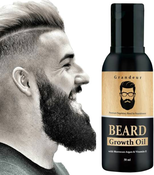 Grandeur Beard Growth Oil For Men For Thicker & Fuller Beard With Argan Oil & Vitamin E Hair Oil