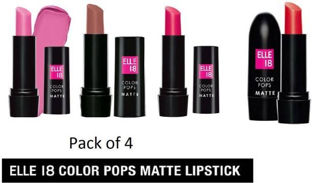 ELLE 18 Lipstick Blast Combo pack of 4