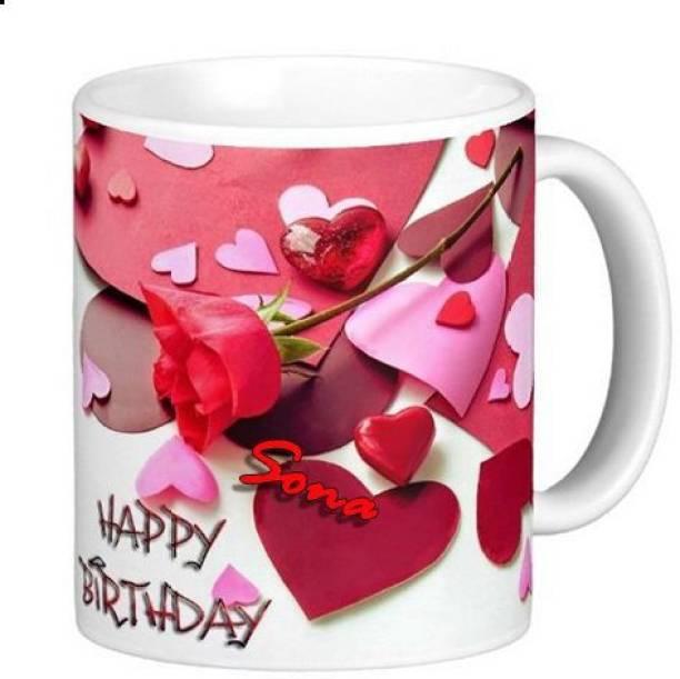 Exocticaa Happy Birthday Sona Romantic Wish 91 Ceramic Coffee Mug