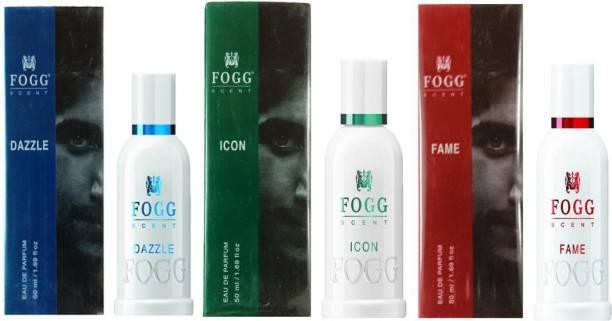FOGG 1 FAME PERFUME 50ML + 1 DAZZLE PERFUME 50ML + 1 ICON PERFUME 50ML Eau de Parfum  -  50 ml