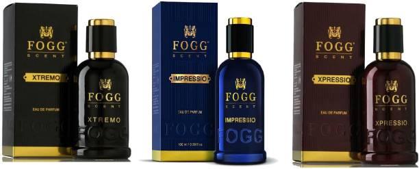 FOGG Scent Xtremo, Impressio and Xpressio EDP Perfume Pack of 3 (90ML each) Eau de Parfum  -  270 ml
