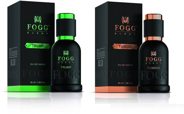 FOGG Scent Trump and Tuxedo EDP Perfume Pack of 2 (50ML each) 100ML Eau de Parfum  -  100 ml