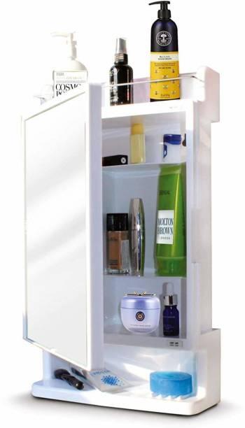 HOMACE Rich Look-BRC-927 Polypropylene Wall Shelf (Number of Shelves - 4, White) Plastic Wall Shelf