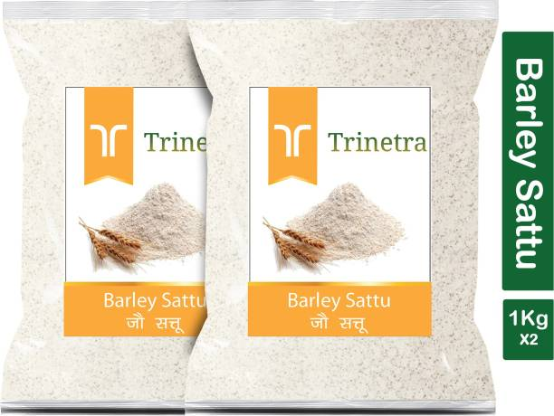 Trinetra Best Quality Jau Sattu (Barley Sattu)-1Kg (Pack Of 2) 2000 g