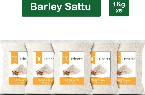 Trinetra Best Quality Jau Sattu (Barley Sattu)-1Kg (Pack Of 5) 5000 g