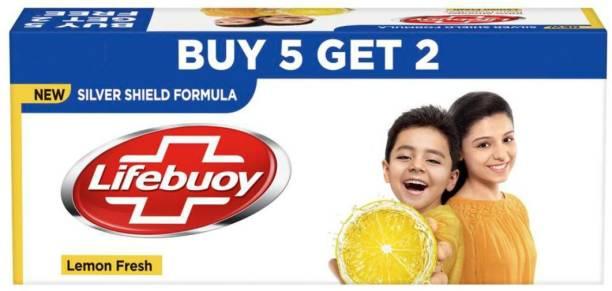 LIFEBUOY Lemon Fresh Soap 125 g (Buy 5 Get 2)
