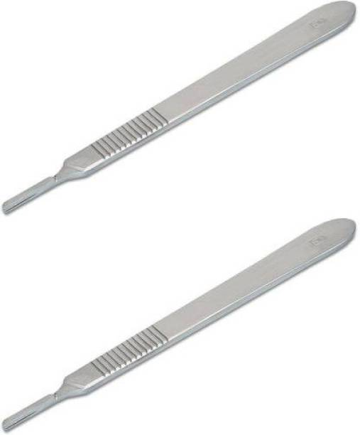 MEDSOR IMPEX SCALPEL HANDLE |SURGICAL HANDLE NO.3 FOR SURGICAL|SCALPEL BLADES (PACK OF 2) Surgical Scalpel