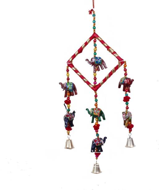 RVART Rajasthani wind chime for home decor Wood, Plastic Windchime