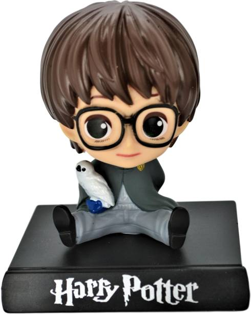 Daiyamondo Harry Potter Big Size Bobble Head - Action Figure Moving Head Bobblehead Spring Dancing PVC Bobble Spring Dancing Doll Toy Car Dashboard Bounce Toys for Car Interior Dashboard Expression BobbleHead for Car Dashboard and Office Desk (Harry Potter)