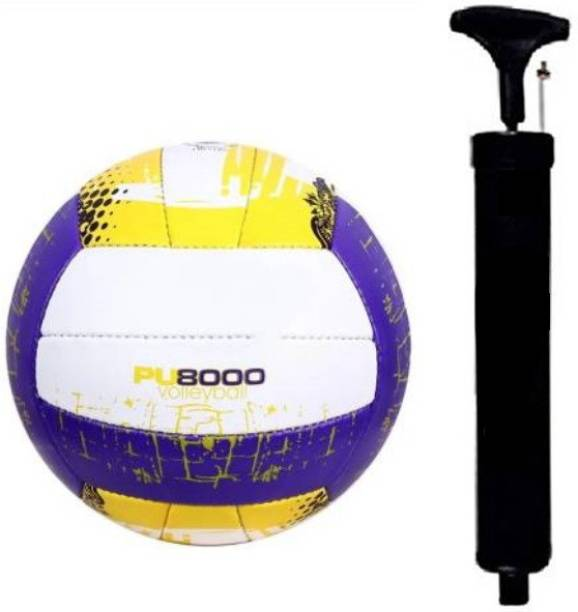 RAHICO CLUB COMBO PURPLE VOLLEYBALL PU8000 WITH AIR PUMP Volleyball - Size: 4