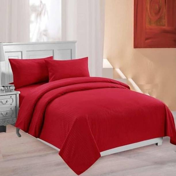 Relaxfeel 250 TC Cotton Double Striped Bedsheet