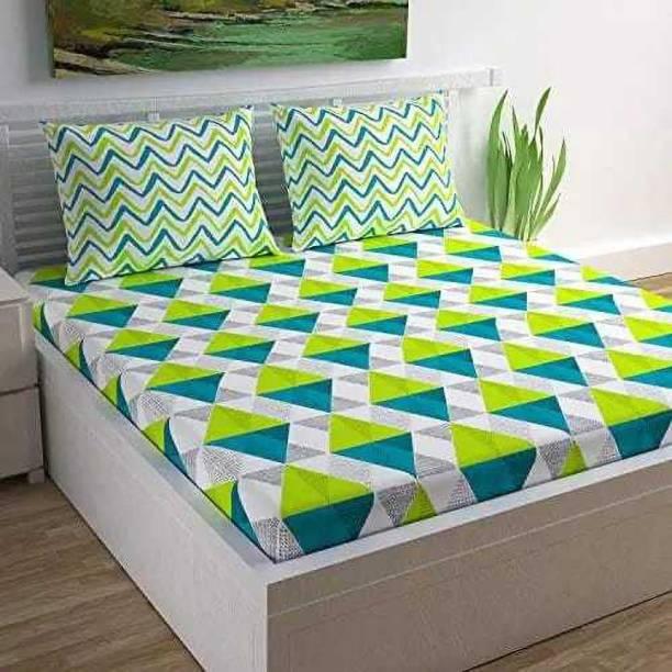 ABHISHEK FASHION 235 TC Cotton Double Geometric Bedsheet