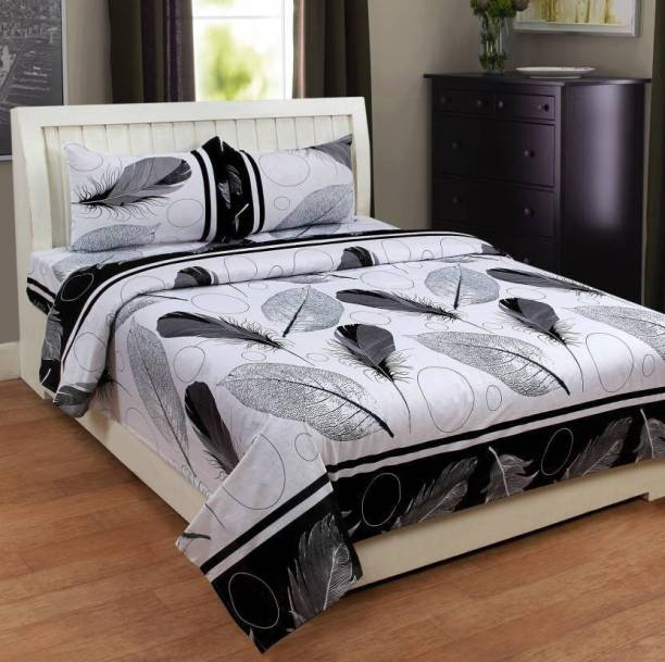 Panipat Textile Hub 140 TC Microfiber Double Printed Bedsheet