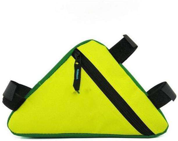 TUHI Waterproof Triangle Bicycle Bags Front Tube Frame Bag Yellow Bicycle Phone Holder